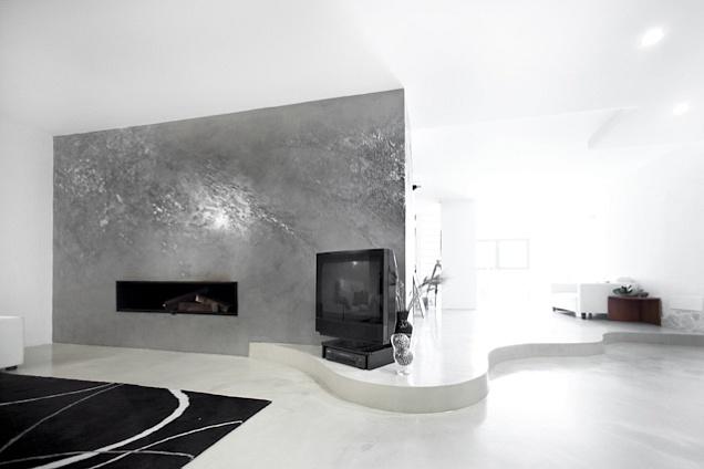 Pavimenti in resina - TS07 Pavimento Dega Spatolato - Parete Dega Art
